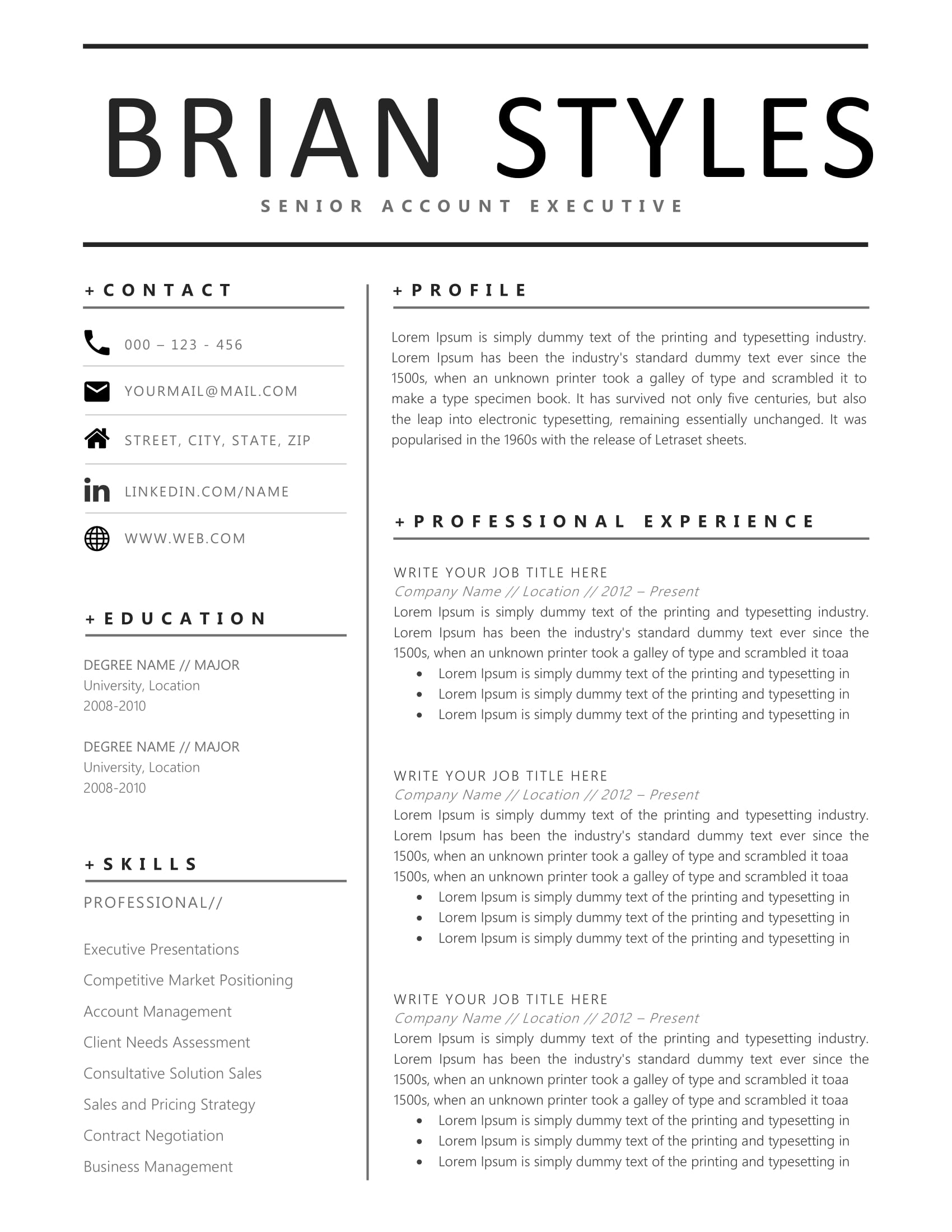 Clean Resume Design 20