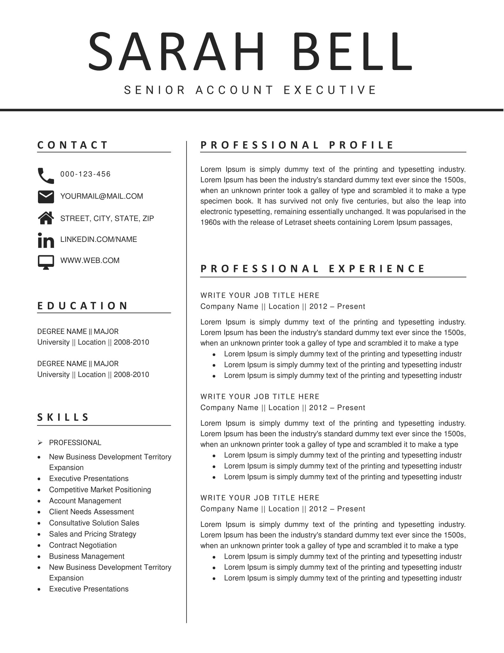 Clean Resume Design 26